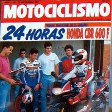 Coches y Motocicletas: MOTOCICLISMO Nº 1231 SEP 1991,HONDA CBR 600F, SUZUKI GSX 750 R AGUA. Lote 19366796
