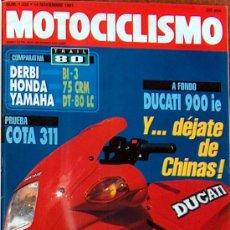 Coches y Motocicletas: MOTOCICLISMO Nº 1238 NOV 1991,YAMAHA DT80LC, HONDA 75 CRM, DERBI BI3, DUCATI 900IE, ASPAR. Lote 19366899