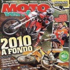 Coches y Motocicletas: REVISTA MOTO VERDE Nº 375 AÑO 2009. COMPARATIVA. HUSQVARNA TE 250 Y RIEJU MARATHON 250 4T. PRUEBA. S. Lote 26449584