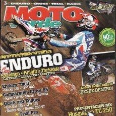 Coches y Motocicletas: REVISTA MOTO VERDE Nº 368 AÑO 2009. COMPARATIVA: HUSQVARNA TE 310 Y KTM EXC 400. PRUEBA: SHERCO 3.2 . Lote 26449610