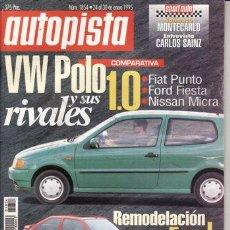 Coches y Motocicletas: REVISTA ATUOPISTA Nº 1854 AÑO 1996. PRUEBA: FORD MUSTANG 5.0 GT. PRUEBA: JAGUAR XJR. COPARATIVA: VOL. Lote 26479295
