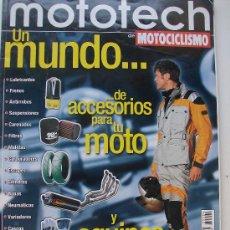 Coches y Motocicletas: REVISTA MOTOCICLISMO UN MUNDO DE ACCESORIOS PARA TU MOTO Y EQUPO PARA TI. Lote 19753427