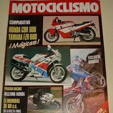 Coches y Motocicletas: MOTOCILISMO 1113 DE 1.989 - HONDA CBR 600 - YAMAHA FZR 600 - NANI GOZALEZ DE NICOLAS .... Lote 27057930