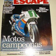 Coches y Motocicletas: ESCAPE ( SUPLEMENTO DE LA VANGUARDIA ) MOTOS CAMPEONAS . Lote 27107449