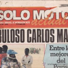 Coches y Motocicletas: REVISA SOLO MOTO ACTUAL Nº 484 AÑO 1985. PRUEBA: GUZZI V 65 LARIO. . Lote 26979385