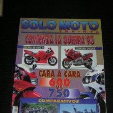 Coches y Motocicletas: SOLO MOTO 30 - Nº 116 - OCT 1992 - NORTON 750 COMMANDO FASTBACK / YAMAHA VIRAGO V MAX / VESPA COSA. Lote 19985823