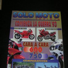 Coches y Motocicletas: SOLO MOTO 30 - Nº 116 - OCT 1992 - NORTON 750 COMMANDO FASTBACK / YAMAHA VIRAGO V MAX / VESPA COSA. Lote 19985841