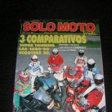 Coches y Motocicletas: SOLO MOTO 30 - Nº 89 - JUL 1990 - BMW K 100 LT / HONDA ST 1100 PAN EUROPEAN / SUZUKI GSX 1100 R / K1. Lote 20026381