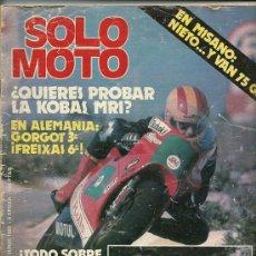 Coches y Motocicletas: REVISTA SOLO MOTO Nº 335. Lote 20034822