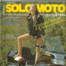 Coches y Motocicletas: REVISTA SOLO MOTO TREINTA Nº 41. Lote 20035029