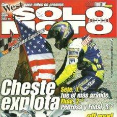 Coches y Motocicletas: REVISTA SOLO MOTO ACTUAL Nº 1320. Lote 20035298