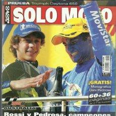 Coches y Motocicletas: REVISTA SOLO MOTO Nº 1480. Lote 20035435