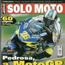 Coches y Motocicletas: REVISTA SOLO MOTO Nº 1482. Lote 20035450