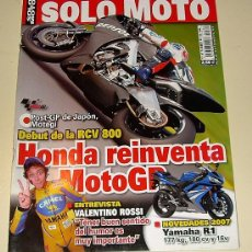 Coches y Motocicletas: SOLO MOTO 1.582 NOVIEMBRE 2006 - APRILI TUONO 1000 R - KAWASAKI VERSYS -BENELLI TREK 1300 ... Lote 25978218