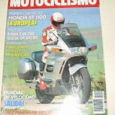 Coches y Motocicletas: MOTOCICLISMO Nº 1152 MARZO 1990 - HONDA ST 1100 - KAWA ZXR 750 - SUZUKI DR 800 BIG .... Lote 25665954