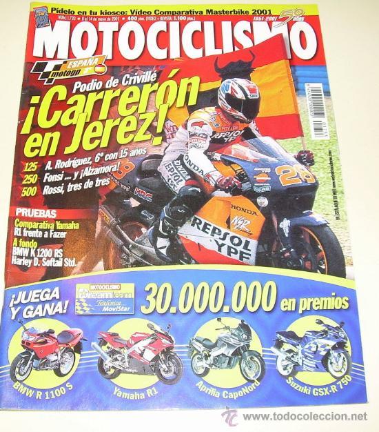 MOTOCICLISMO Nº 1733 MAYO 2001 - YAMHA R1 - BMW K 1200 RS -.... (Coches y Motocicletas - Revistas de Motos y Motocicletas)