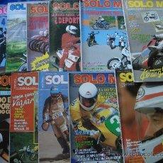 Coches y Motocicletas: 19 REVISTAS SOLO MOTO TREINTA. Lote 21654171