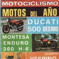 Coches y Motocicletas: REVISTA MOTOCICLISMO Nº 595 AÑO 1979. COMPARATIVA: SANGLAS 400 F Y DUCATI STRADA. . Lote 39267361