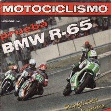 Coches y Motocicletas: REVISTA MOTOCICLISMO Nº 610 AÑO 1979. PRUEBA: BMW R 65. . Lote 21832633