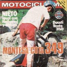 Coches y Motocicletas: REVISTA MOTOCICLISMO Nº 621 AÑO 1979. PRUEBA: DUCATI 350 VENTO. PRUEBA: MONTESA COTA 349. PRESENTACI. Lote 21849194