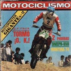 Voitures et Motocyclettes: REVISTA MOTOCICLISMO Nº 562 AÑO 1978. PRUEBA: BULTACO FRONTEREA 74. CONTACTO: DNEPR 600 CON SIDECAR.. Lote 31795358