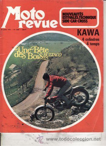 REVISTA MOTO REVUE Nº1 2086 AÑO 1972. PRUEBA: BULTACO 325. (Coches y Motocicletas - Revistas de Motos y Motocicletas)