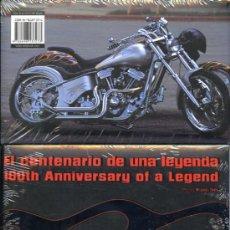 Coches y Motocicletas - HARLEY-DAVIDSON - EL CENTENARIO DE UNA LEYENDA 1903-2003 - TAPAS CARTONÉ - MÁS DE 200 PÁGINAS COLOR - 22660107