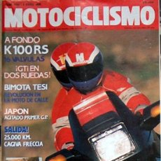 Coches y Motocicletas: MOTOCICLISMO Nº 1154 ABR 90, K100RS 16 VALVULAS, BIMOTA TESI, CAGIVA FRECCIA, GP JAPON. Lote 22931664