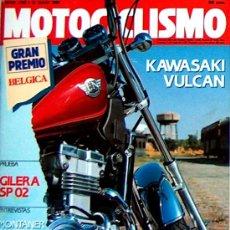 Coches y Motocicletas - MOTOCICLISMO Nº 1168 JUL 90,KAWASAKI VULCAN, GILERA SP2, GP BELGICA - 23239600