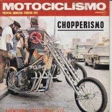 Coches y Motocicletas: REVISTA MOTOCICLISMO Nº 1ª QUINCENA FEBRERO AÑO 1974. PRUEBA DUCATI 750 SPORT.. Lote 23666664