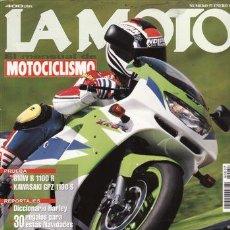 Coches y Motocicletas: REVISTA LA MOTO Nº 57 AÑO 1995. PRUEBA: KAWASAKI ZX 6R. CONTACTO: KAWASAKI GPZ 1100 S. CONTACTO: BMW. Lote 23681250