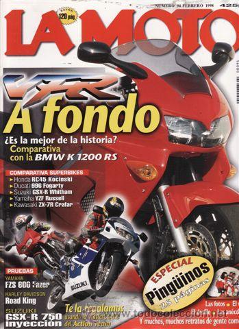 REVISTA LA MOTO Nº 94 AÑO 1998. PRUEBA: YAMAHA FZS 600 FAZER. PRUEBA: HARLEY DAVIDSON ROAD KING. PRU (Coches y Motocicletas - Revistas de Motos y Motocicletas)