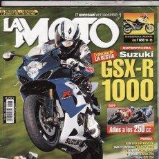 Coches y Motocicletas: REVISTA LA MOTO Nº 183 AÑO 2005.PRU: SUZUKI GSX R 1000.KTM 950 SUPERMOTO.HARLEYDAVIDSON FAT BOY 15TH. Lote 48389635