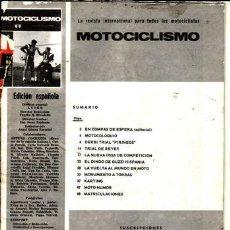 Coches y Motocicletas: REVISTA MOTOCICLISMO. PRUEBA: DERBI TRIAL PIRINEOS. PRUEBA: OSSA COMPETICIÓN. PRUEBA: GUZZI HISPANIA. Lote 23723765