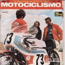 Coches y Motocicletas: REVISTA MOTOCICLISMO Nº FEBRERO AÑO 1972. PRUEBA: GIMSON CANIGÓ. . Lote 23724121
