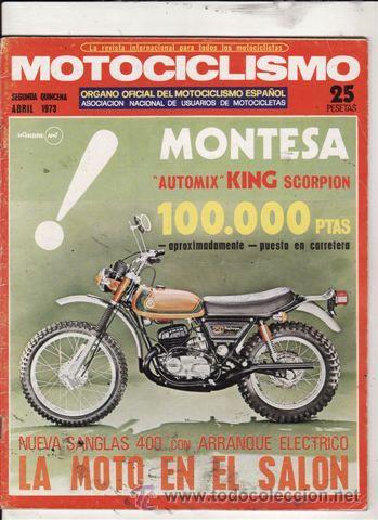 REVISTA MOTOCICLISMO Nº 2ª QUINCENA DE ABRIL AÑO 1973. (Coches y Motocicletas - Revistas de Motos y Motocicletas)