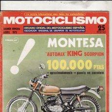 Coches y Motocicletas: REVISTA MOTOCICLISMO Nº 2ª QUINCENA DE ABRIL AÑO 1973.. Lote 287791273
