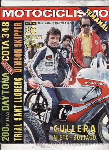 REVISTA MOTOCICLISMO Nº 450 AÑO 1976. PRUEBA: MONTESA 348. PRUEBA: GIMSON SKIPPER. (Coches y Motocicletas - Revistas de Motos y Motocicletas)