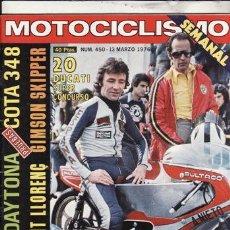 Coches y Motocicletas: REVISTA MOTOCICLISMO Nº 450 AÑO 1976. PRUEBA: MONTESA 348. PRUEBA: GIMSON SKIPPER.. Lote 52657843