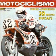 Coches y Motocicletas: REVISTA MOTOCILISMO Nº 454-455 . Lote 23965867