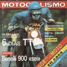 Coches y Motocicletas: REVISTA MOTOCICLISMO Nº 625 AÑO 1979. PRUEBA: BENELLI 900 SEI. . Lote 83942210