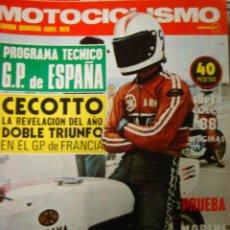 Coches y Motocicletas: REVISTA MOTOCICLISMO SEGUNDA QUINCENA ABRIL 1975 OSSA BULTACO MORINI. Lote 34668604