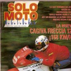 Coches y Motocicletas: REVISTA SOLO MOTO Nº 729 MAYO 1990 CAGIVA FRECCIA 125 JEREZ GILERA RC 125. Lote 24321878
