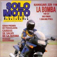 Carros e motociclos: REVISTA SOLO MOTO Nº 736 JUNIO 1990 KAWASAKI ZZR 1100 G P YUGOSLAVIA. Lote 24321946
