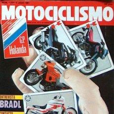 Coches y Motocicletas: MOTOCICLISMO Nº 121 JUL 1991,VESPA SFERA,YAMAHA SUPERTENERE,TDM,KAWA GPZ 550,KLE,BRADL,GP HOLANDA. Lote 24380245