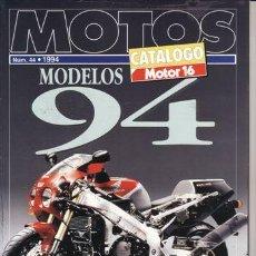 Coches y Motocicletas: CATALOGO MOTOR 16 Nº 44 AÑO 1944. CATALOGO MOTOS: MODELOS 94. . Lote 30465623