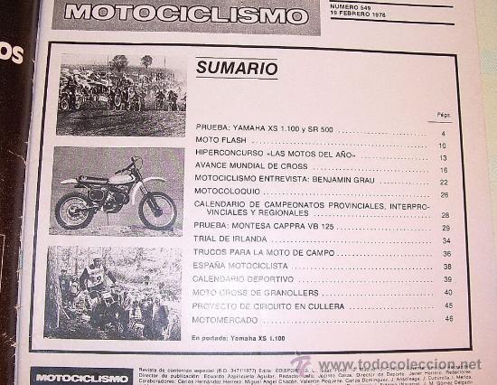 Coches y Motocicletas: Motociclismo 549 de 1978 - Foto 2 - 26942181