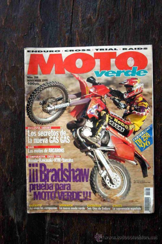 REVISTA MOTO VERDE. NÚMERO 208 NOVIEMBRE 1995 (Coches y Motocicletas - Revistas de Motos y Motocicletas)