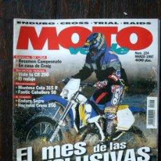 Coches y Motocicletas: REVISTA MOTO VERDE. NÚMERO 224 MARZO 1997. Lote 27245693