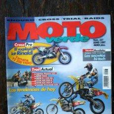 Coches y Motocicletas: REVISTA MOTO VERDE. NÚMERO 227 JUNIO 1997. Lote 27245695